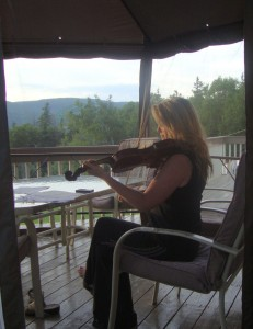 Practicing my fiddle